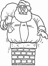 Chimney Coloring Santa Christmas Pages Stuck Drawing Father Chimneys Printable Sheets Getdrawings Getcolorings Humorous Cartoon Printables sketch template
