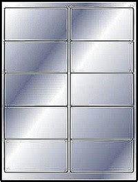 silver metallic foil laser  labels