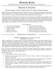 personal goals on a resume personal trainer resume resume sle template