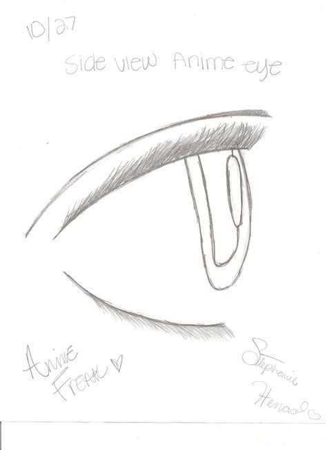 Anime Eyes From The Side Side View Anime Eye By Animefreak745 On Deviantart