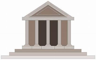 Ancient Greek Clipart Roman Clip Parthenon Buildings