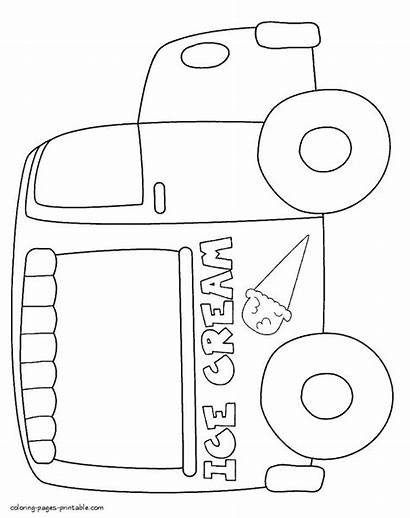 Ice Cream Coloring Pages Printable Truck Preschool