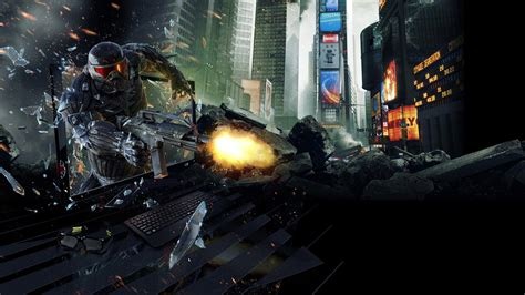 full hd wallpaper crysis armor  york art shooter debris