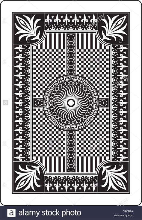 design  playing card  side stock photo royalty