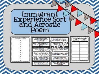 immigration experience sort  acrostic poem