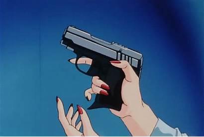Aesthetic Gun Anime Retro Pfp Goth Gifs