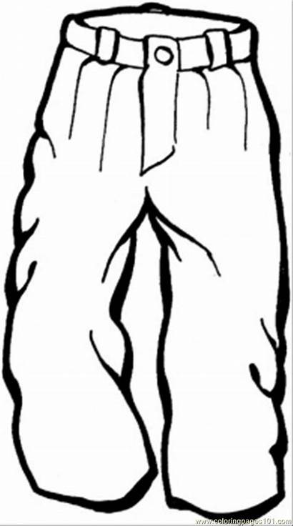 Trousers Coloring Pages Clothes Winter Clothing Pants