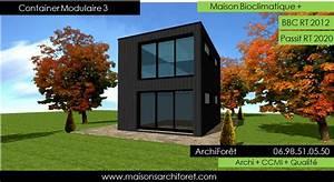 Maison Modulaire Bois : maison container modulaire ossature bois d architecte ~ Melissatoandfro.com Idées de Décoration