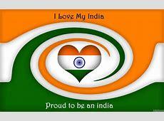 Happy Republic Day I Love My India Greetings Heart Image
