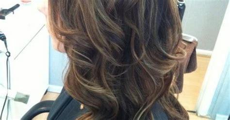 dark brown hair with light brown tips dark brown with light brown caramel highlights with