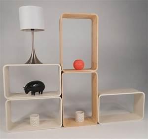 Etagere Profondeur 20 : etag re cube le lot de 2 une en couleur bois et une ~ Edinachiropracticcenter.com Idées de Décoration