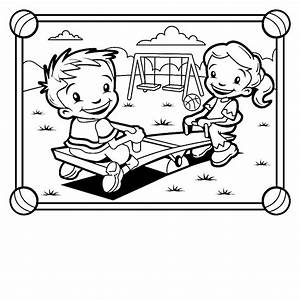 playground equipment coloring pages clipart panda free With the colorplay