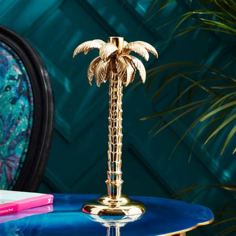 palm tree gold taper candle holder  candle holders reviews cb