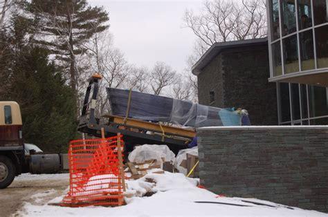 concrete installation stone stoup concrete installations