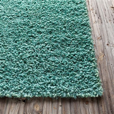 teal shag rug riza shag rug in teal by chandra rugs rosenberryrooms