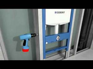 Wc Anschlussstutzen Versetzte Montage : montage b ti support wc duofix geberit youtube ~ Watch28wear.com Haus und Dekorationen