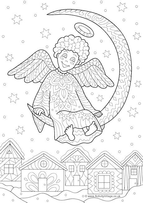 activity village christmas doodle colouring page