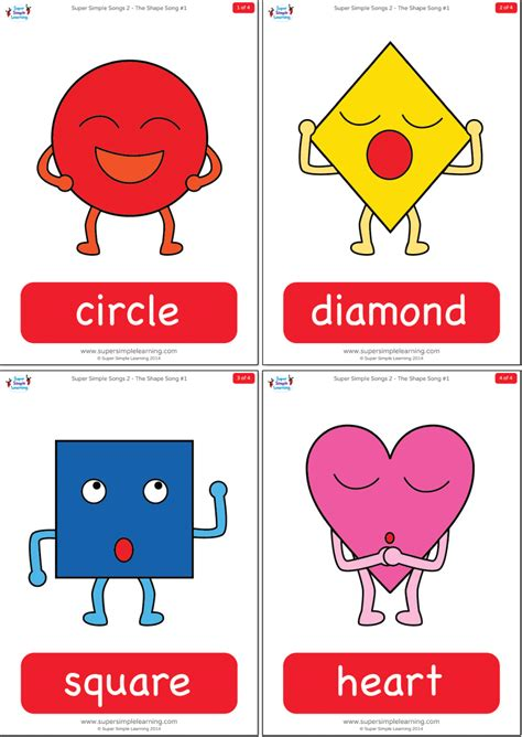 shape song  flashcards super simple