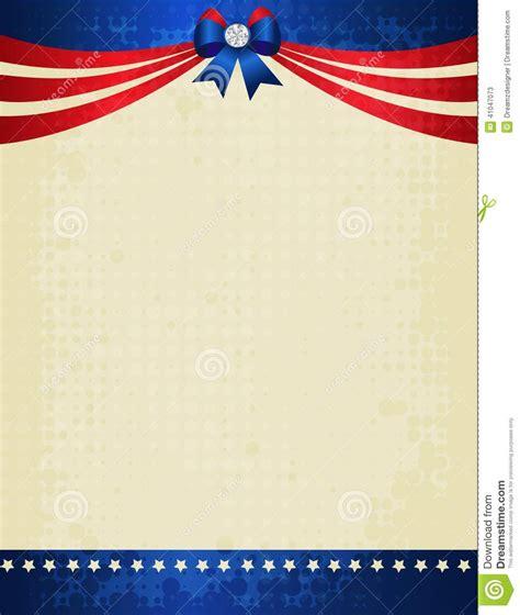 patriotic border stock vector image  background