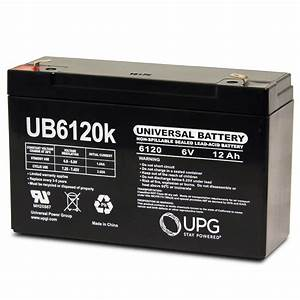 Upg 6 Volt 12 Ah Ub6120 Emergency Lighting Battery