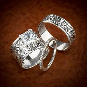 Western wedding ring set love love love dream wedding for Western rings wedding