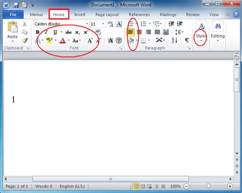dara template information where is the format menu in microsoft word 2007 2010