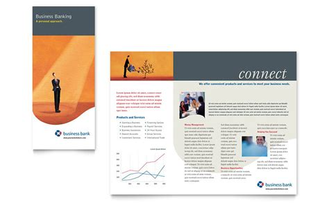 Publisher Templates Brochure by Business Bank Brochure Template Word Publisher