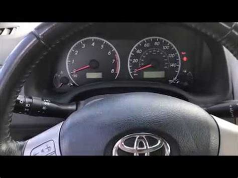 toyota corolla oil maintenance required light