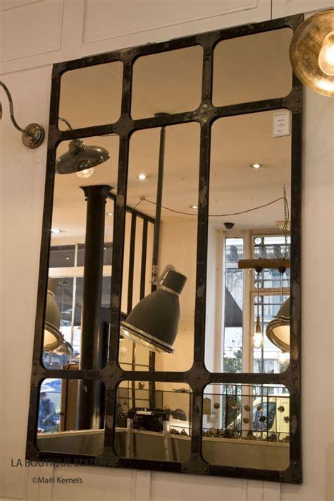 bureaux soldes miroir industriel miroir d 39 atelier en métal finition