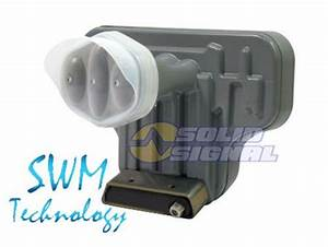 Directv Slimline Single Wire Ka  Ku Swm Triple Lnb  Sl3