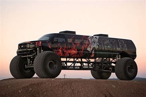videos de monster trucks got 1 million to spend this limousine monster truck