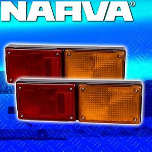 2x Narva Jumbo 3 In 1 Combination Rear Tail Lights Tail