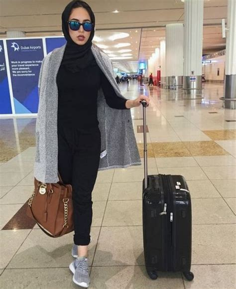 hijabi traveling style  trendy girls hijab hijab