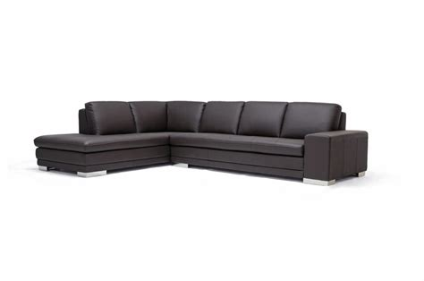 chaise h et h callidora brown leather sectional sofa with left facing chaise chicago furniture