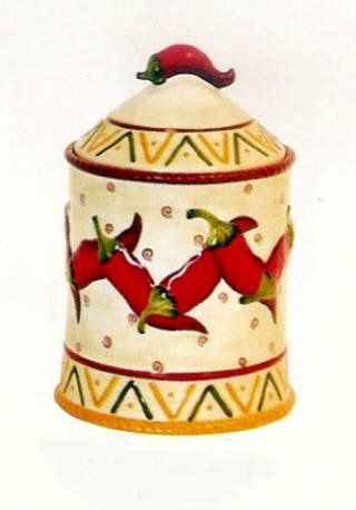 chili pepper decor chili pepper kitchen decor cookie jar