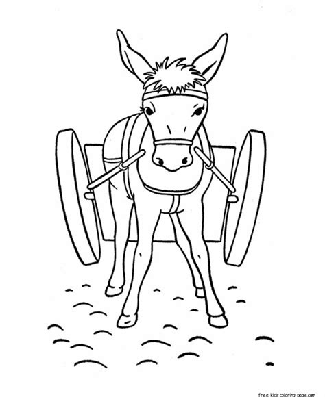 printable coloring pages donkey  kidsfree printable