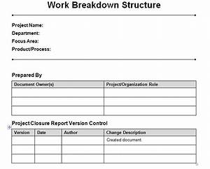 Work breakdown structure template excel microsoft excel for Product breakdown structure excel template