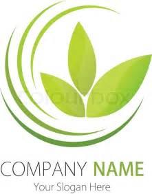 company logo design company business logo design vector plant leaf stock vector colourbox