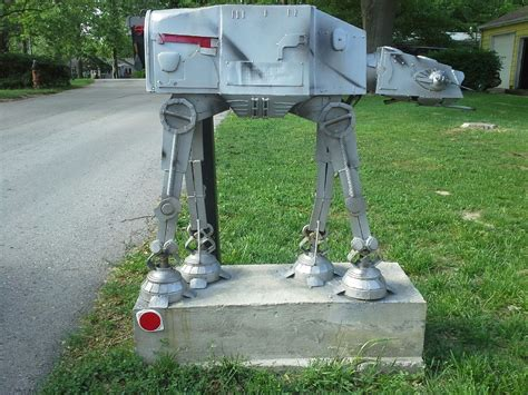 Cool Mailbox Ideas With Classy Cool Metal Robot Mailboxes To Build Design~ Popular Home Interior