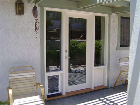 patio doors with built in door