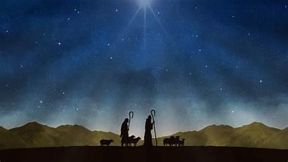 Nativity Shepherds Night Christmas Never Worship Animated