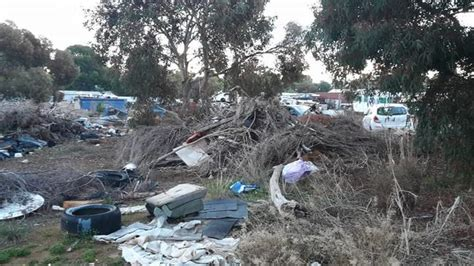 people illegally dumping rubbish leaving high council