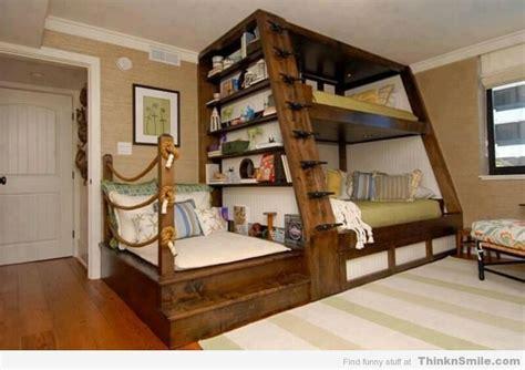 furniture brown wooden bunk bed with desk underneath cool bunkbed design thinknsmile com