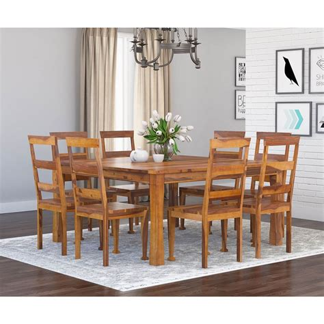 appalachian wood rustic square pc dining table  chair