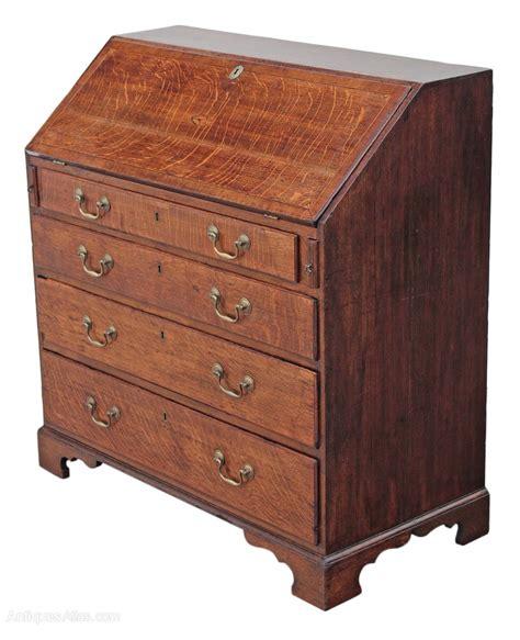 oak bureau desk georgian 18th century inlaid oak bureau desk antiques atlas