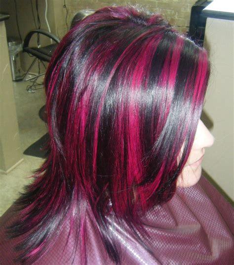 magenta highlights hair highlights hair color