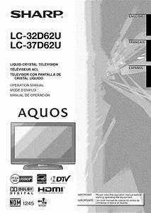 Sharp Lc 32d62u User Manual Lcd Television Manuals And