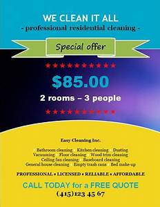 house cleaning flyer template with special discount offer With cleaning advertisement template