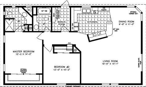 3 bedroom 2 bath mobile home floor 1200 square 1 floor 1200 square house plans