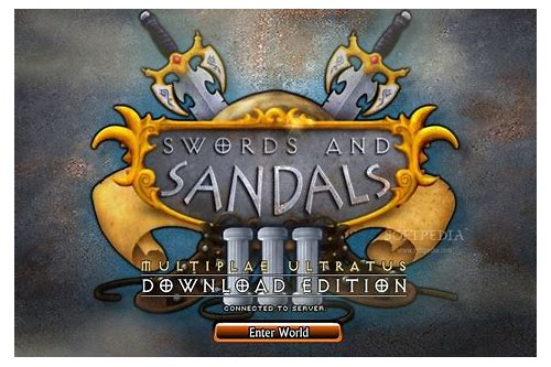 swords and sandals 3 download mac